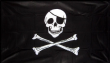 3ft x 2ft Large Pirate Ship Jolly Roger Skull and Crossbones Flag Flags 100D